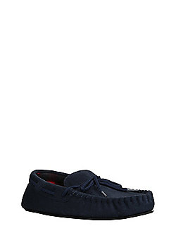 F&F Moccasin Slippers - Navy