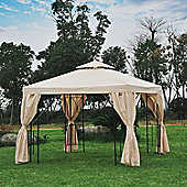 Outsunny Gazebo Sun Shade Shelter Garden Outdoor Party Wedding w/ Side Panel (Beige)