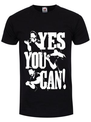 Yes You Can Men's T-shirt, Black.