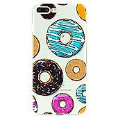 iPhone 8 Plus Colourful Doughnut Illustrated Slim Clear Silicone Case - Multi