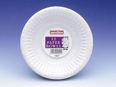 Caroline 1427 Paper Bowls White 225ml X12