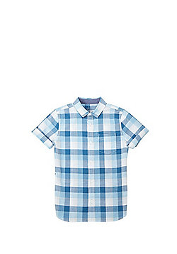 F&F Gingham Check Shirt - Aqua