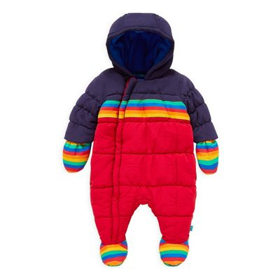 077449179 Little Bird Girl's by Jools Striped Snowsuit Size 9-12 months Catalogue  Number: 410-9004