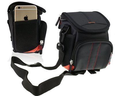 Navitech Black Digital Camera Case Bag Cover For The Praktica Luxmedia Z250 Black Camera
