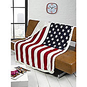 USA Flag Throw 130 x 160cm