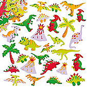 Dinosaur Foam Craft Stickers (Pack of 102)