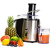 Andrew James Whole Fruit & Vegetable Juicer Machine With Jug & Cleaning Brush - 850 Watts - Chrome