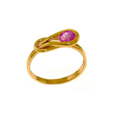 QP Jewellers 0.65ct Pink Topaz San Francisco Ring in 14K Rose Gold - Size W