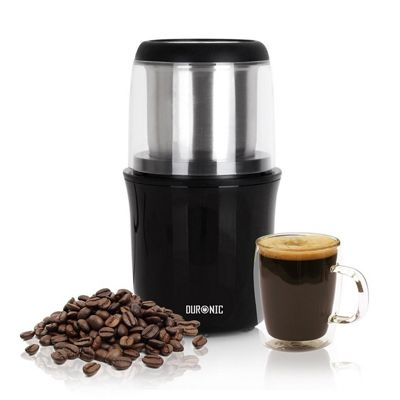 Duronic CG250 Electric Coffee Grinder - Premium 250W Motor Coffee Bean Spice Nut Stainless Steel Blade Mill