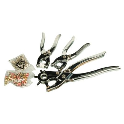 3-Piece Hole Punch and Grommet Kit