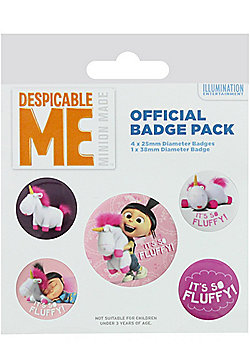 Despicable Me It's So Fluffy Badge Pack - Multi