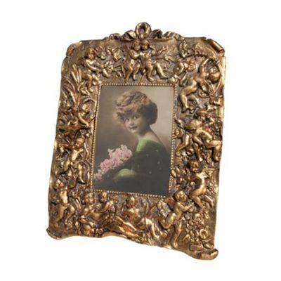 Gold Gilt Leaf Photo Frame Width: 23cm