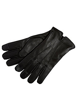 F&F Leather Touch Screen Gloves - Black