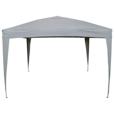 Airwave Pop Up Gazebo Canopy 3x3m in Grey (no Sides)