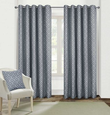 Milano Fully Lined Eyelet Curtains - 66x72