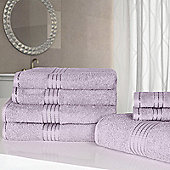 Dreamscene Luxury Egyptian Cotton 7 Piece Towel Bale Set - Heather