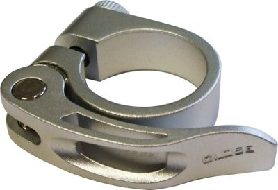 Acor Forged Alloy Q/R Seat Post Clamp: Silver 318mm