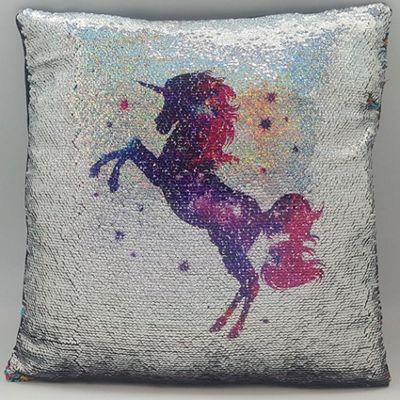 Unicorn, Sequin Cushion