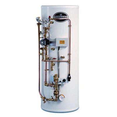 Telford Tornado Easyfit Unvented Pre-Plumbed Stainless Steel Hot Water Cylinder 125 LITRE
