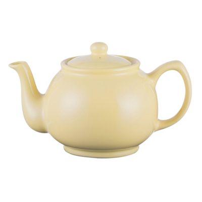 Pastel Yellow Stoneware 6 Cup Teapot 1100ml from Price & Kensington