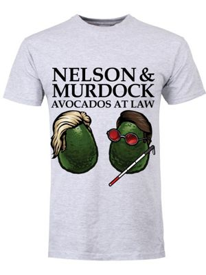 Nelson & Murdock Avocados At Law Grey Men's T-shirt