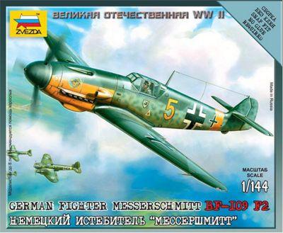 Zvezda - German Fighter Messerschmitt BF-I09 F2 1:144 6116
