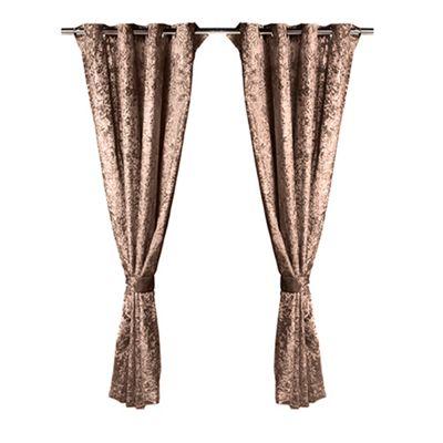 Chocolate Crushed Velvet Heavyweight Curtains 46