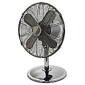 Tesco DF1217GM Metal Desk Fan Gun Metal