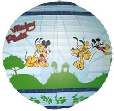 Mickey Mouse and Pluto Paper Lantern