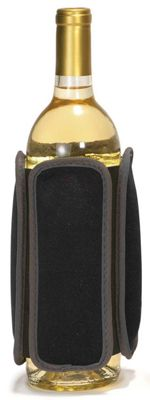 Metrokane Rabbit Wine and Beverage Neoprene Chiller, Black