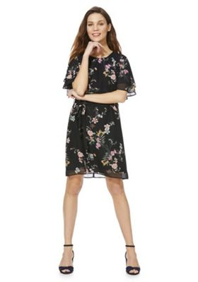F&F Floral Print Double Sleeve Dress Multi 8