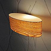 Wood Veneer Oval Wall Light