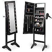 Beautify Make Up & Jewellery Floor Standing Storage Mirror - Black