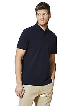 F&F Signature Mercerised Cotton Polo Shirt - Navy