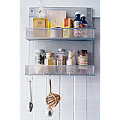 Design Ideas Wall Mounted Silver Mesh Spice Rack and Organiser 351639