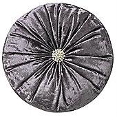 Crushed Velvet Diamante Cushion - Lavender