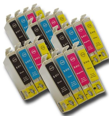 The Ink Squid T0611-4 Epson-compatible Teddy bear non-OEM ink Cartridges