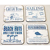 Martin Wiscombe By The Sea Coasters, Set of 4