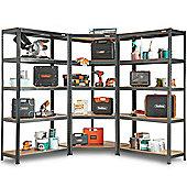 VonHaus 3pc Corner Bundle 5 Tier Racking/Garage Shelving
