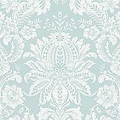 Superfresco Easy Paste The Wall Venetian Textured Damask Blue Wallpaper