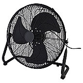 "Tesco 18"" High Velocity Fan, 3 Speed - Black"