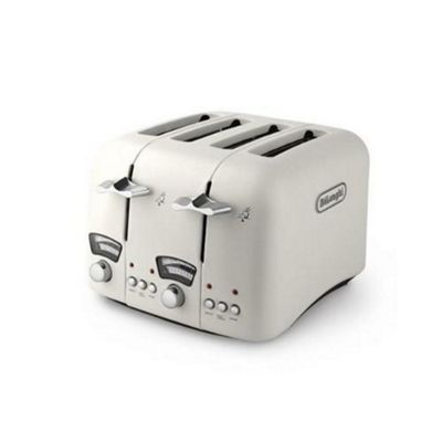 DeLonghi CT04E Argento 4 Slice Toaster in Cream