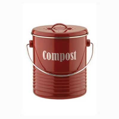 Typhoon Vintage Kitchen Red Compost Caddy