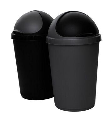 Whitefurze Bullet 50L Black Waste Bin