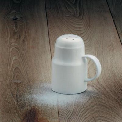 Porcelain Sugar Shaker with Handle