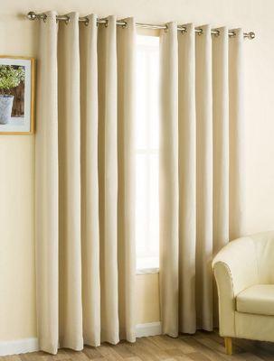 Hamilton McBride Faux Silk Pencil Pleat Latte Curtains - 90x72 Inches (229x183cm) Includes Tiebacks