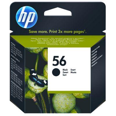 HP 56 Black InkJet Print Cartridge (Yield 520 Pages)