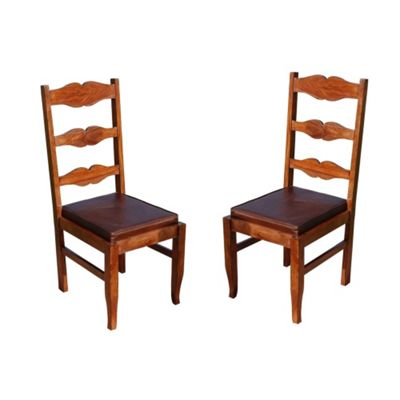 Homescapes Dakota Hannah Pair of Dining Chairs