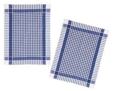 Fairmont & Main Blue & White Gingham Check Tea Towels, Pack of 2