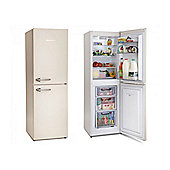Montpellier MAB148C Cream 148cm Fridge Freezer